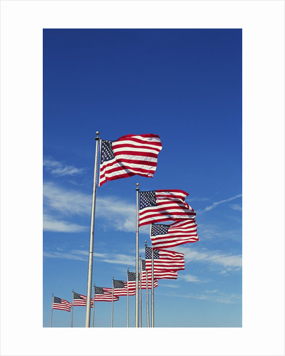 Flags at Washington Monument by Corbis