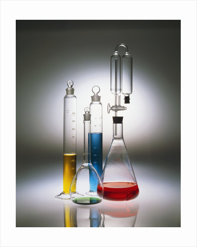 Graduated Cylinders and Flasks by Corbis