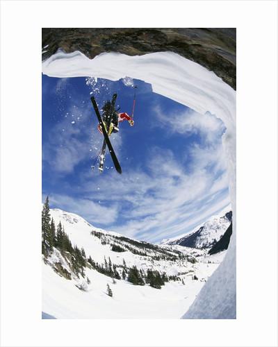 Skier Performing Jump by Corbis