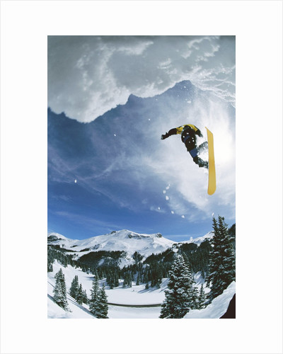 Snowboarder Performing Jump by Corbis