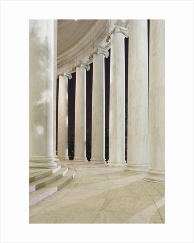 Columns Inside the Jefferson Memorial by Corbis