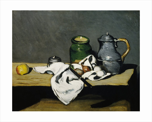 Still Life with Kettle by Paul Cezanne