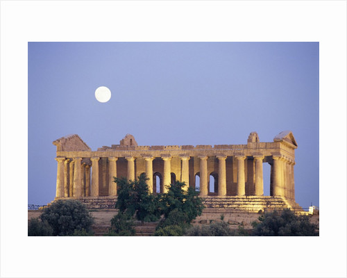 Temple of Concord Under the Moon by Corbis