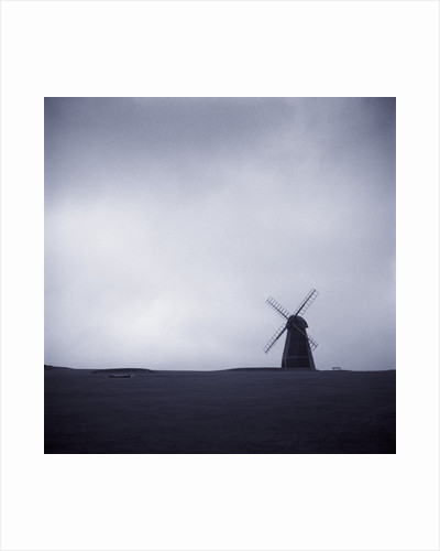 Windmill Under Gray Sky by Corbis