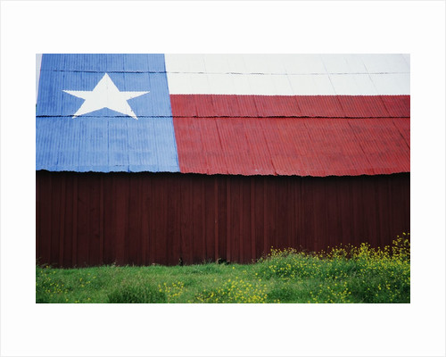 Texas Lone Star Design on Barn Roof by Corbis