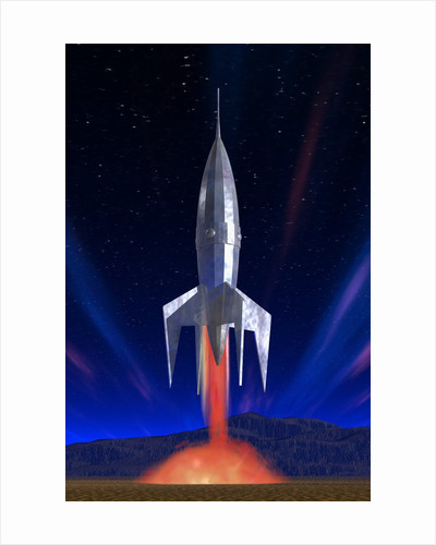 Rocket Ship Lifting Off by Corbis