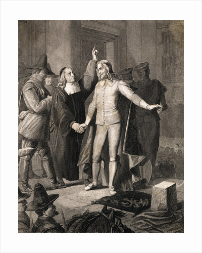 Charles I Receiving Benediction Before Execution by Corbis