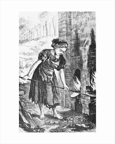Engraving of a Child Working in a Factory by Corbis