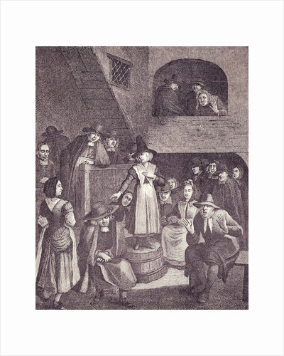Quakers' Meeting in Seventeenth Century by Corbis