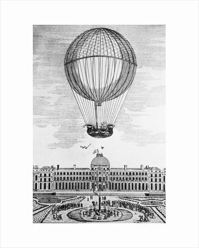 Montgolfier Hot Air Balloon Ascending by Corbis
