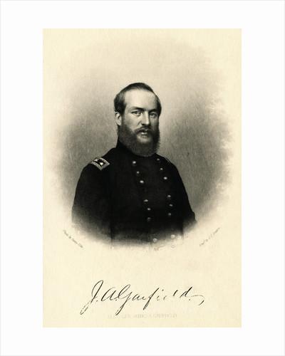 Portrait of James Garfield Wearing Military Uniform by Corbis