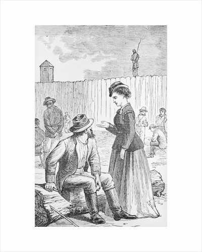 Illustration of Loretta Velasquez at Johnson's Island Prisoner of War Depot by Corbis