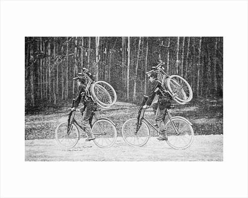 Soldiers Riding Bicycles by Corbis