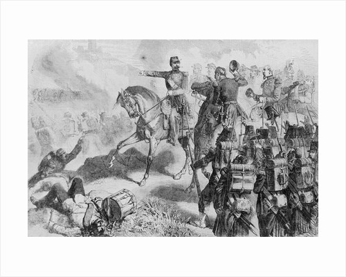 Illustration of Napoleon at the Battle of Solferino by Corbis