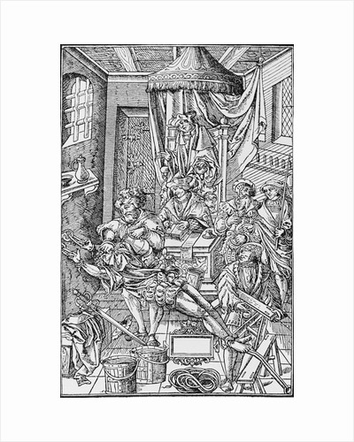Medieval Law Court by Corbis