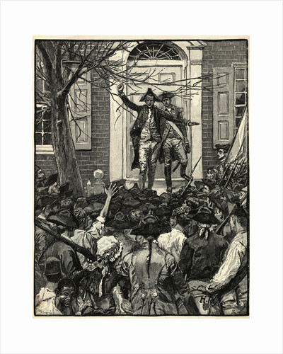 Illustration of Alexander Hamilton Addressing a Mob by Corbis