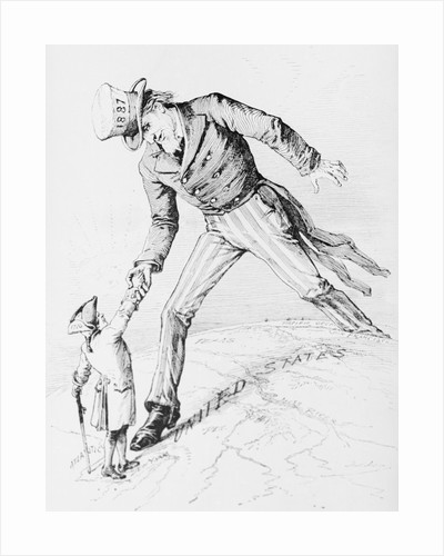 Depiction of Uncle Sam as 1776 and 1887 by Corbis
