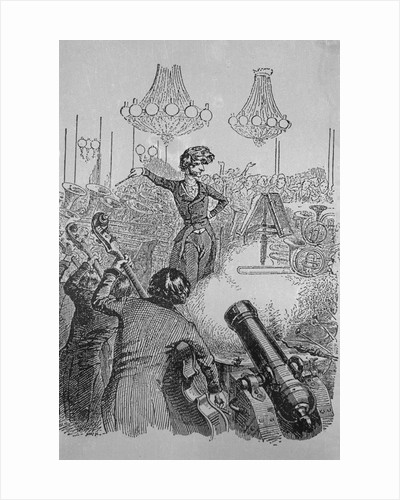 Caricature Ridiculing Overcoloristic Orchestration by Berlioz
