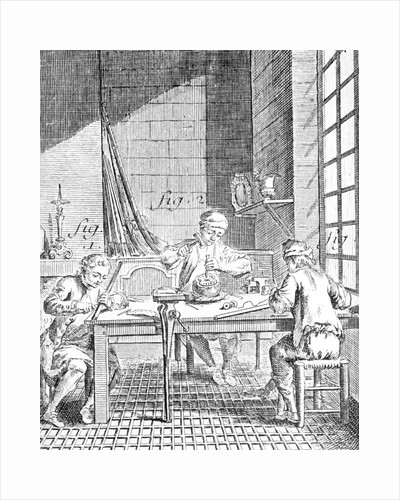 Illustration of Silversmith Working by Corbis