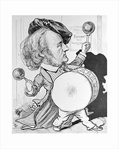 Cartoon of Richard Wagner Banging a Drum by Corbis
