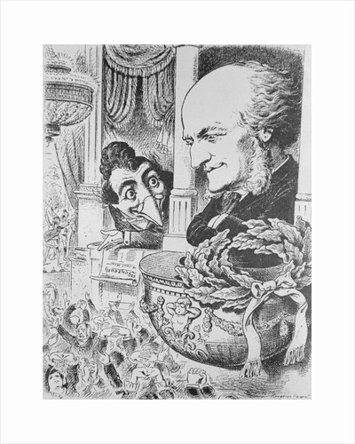 Caricature of Richard Wagner at a Concert Hall by Corbis