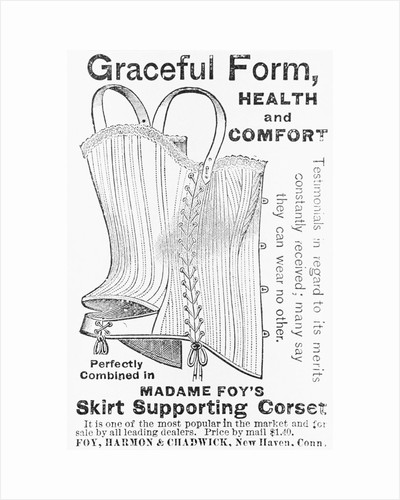 Advertisement for Madame Foy's Skirt Supporting Corset by Corbis