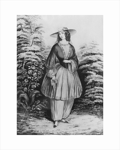 Woman Displaying Gown by Corbis