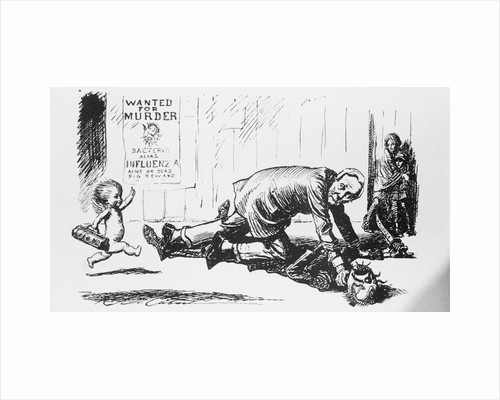 Illustrative Cartoon on Influenza Prevention by Corbis