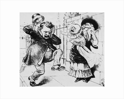Grover Cleveland Tormented/Child/Illustr by Corbis