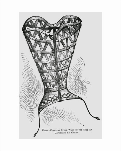 Illustration of a 16th-Century Steel Corset by Corbis
