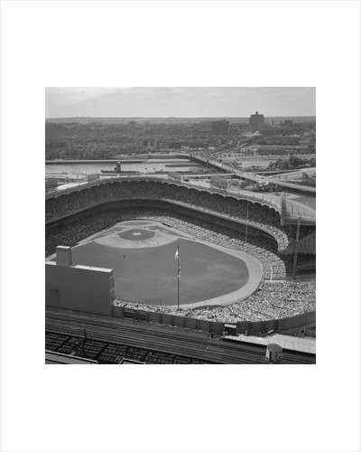 Aerial View of Crowds at Yankee Stadium by Corbis