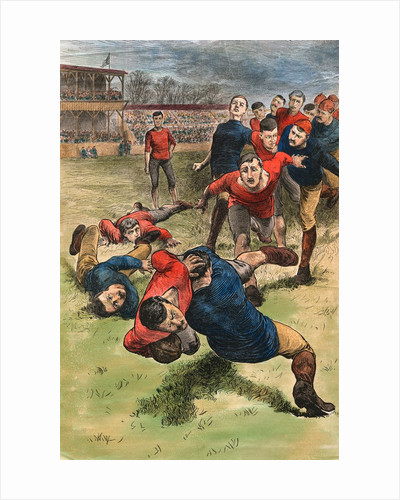 Illustration on Early Scenes of Football by Corbis