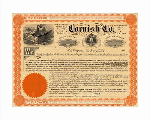 Depiction of Cornish Company Bond by Corbis