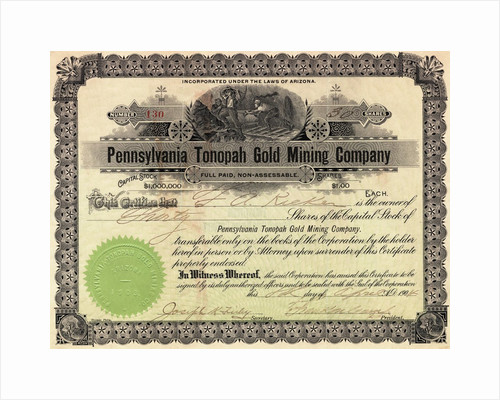 Depiction of Pennsylvania Mining Company Stock by Corbis
