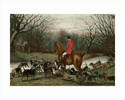 Men on Hunting Trip Using Dogs by Corbis