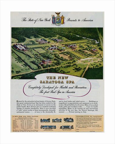 Advertisement for Saratoga Spa by Corbis