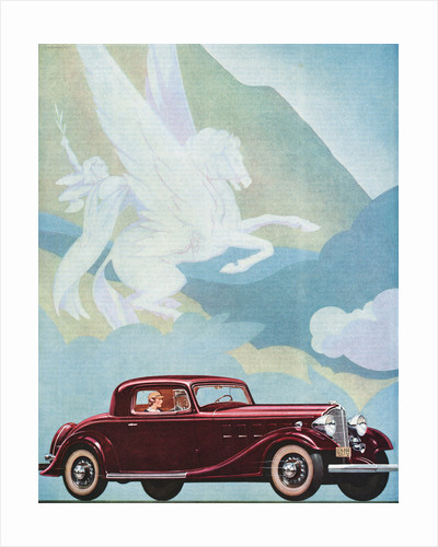 Early Advertising of Buick Automobile with Pegasus Overhead by Corbis