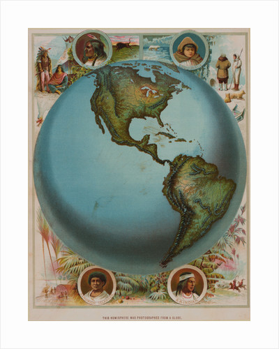 Map of the Americas by Corbis