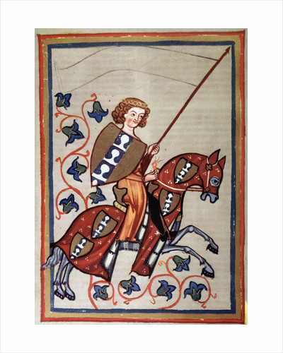 Medieval Painting of a Knight on Horseback by Corbis