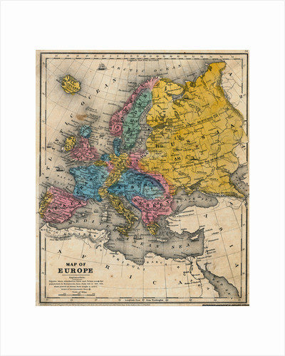 Map of Europe by Corbis