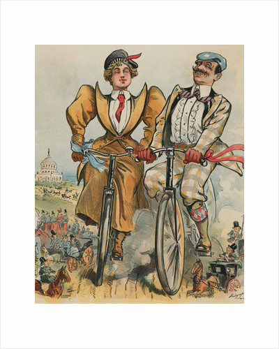 People Riding Bicycles by Corbis