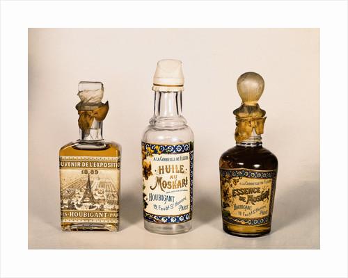 Three Perfume Bottles, Essence of Moskari - Houbigant by Corbis