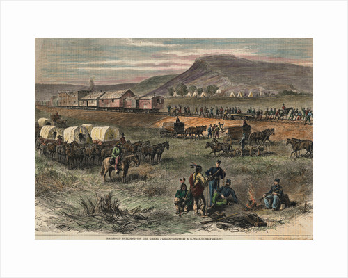 Railroad Building On The Great Plains by A.R. Waud