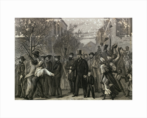 Crowds Welcoming Abraham Lincoln by Corbis