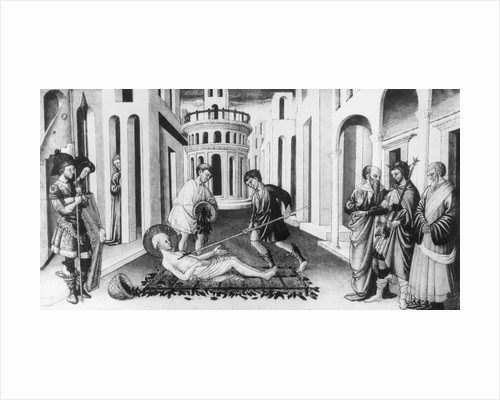 Illustration of Saint Lawrence Execution by Corbis