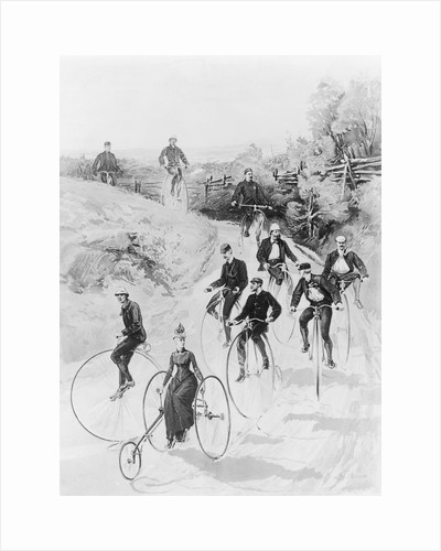 Men and Women Riding Bicycles by Corbis