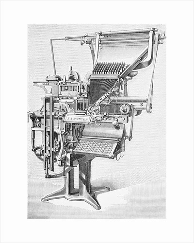 19th Century Linotype Machine by Corbis