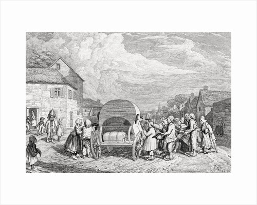 Beggars Surrounding Carriage by Corbis