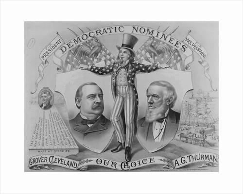 Grover Cleveland and A. G. Thurman on Election Poster by Corbis