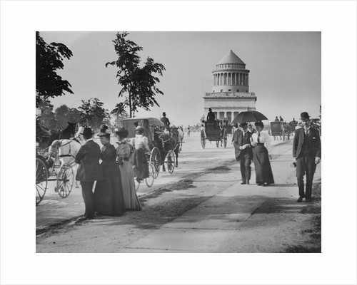 Pedestrians and Wagon Travelers near Grant's Tomb by Corbis